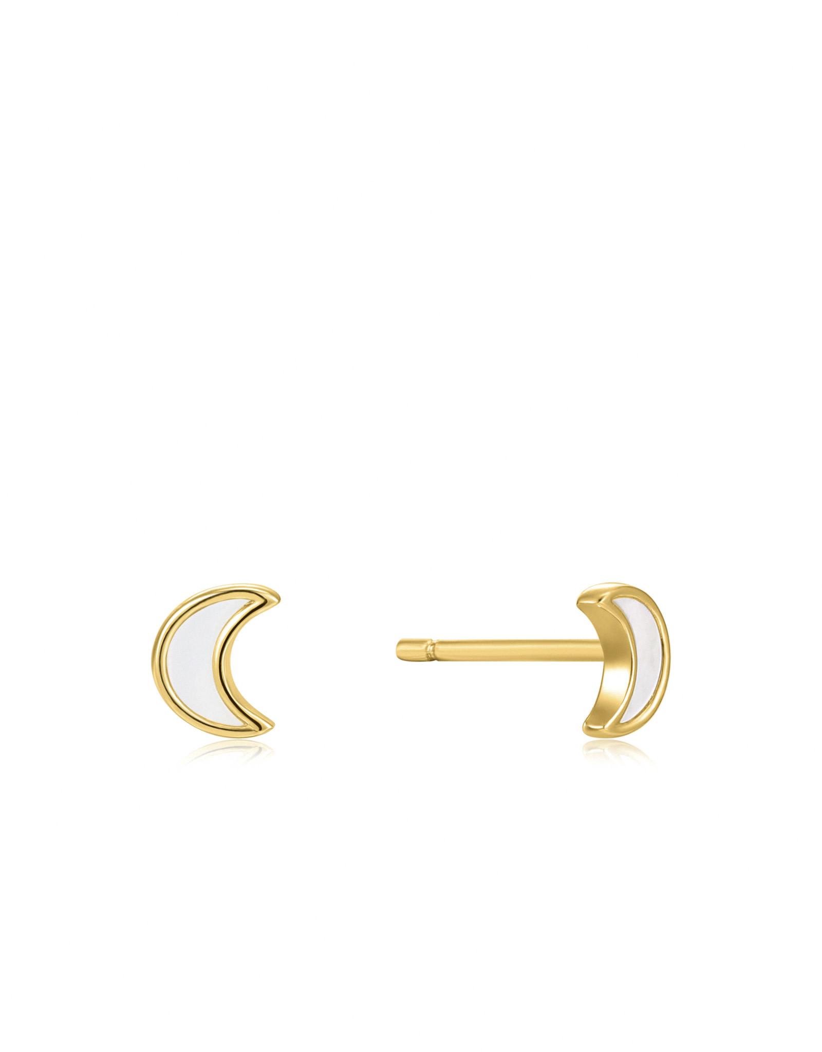 Ania Haie Ania Haie - Moon gold stur earrings