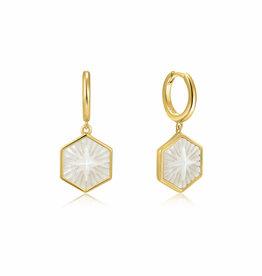 Ania Haie Ania Haie - Compass emblem gold huggie hoop earring
