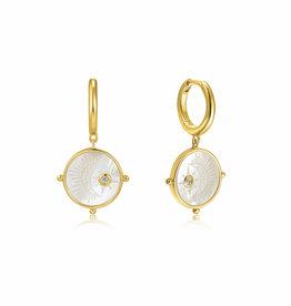 Ania Haie Ania Haie - Moon emblem gold huggie hoop earrings