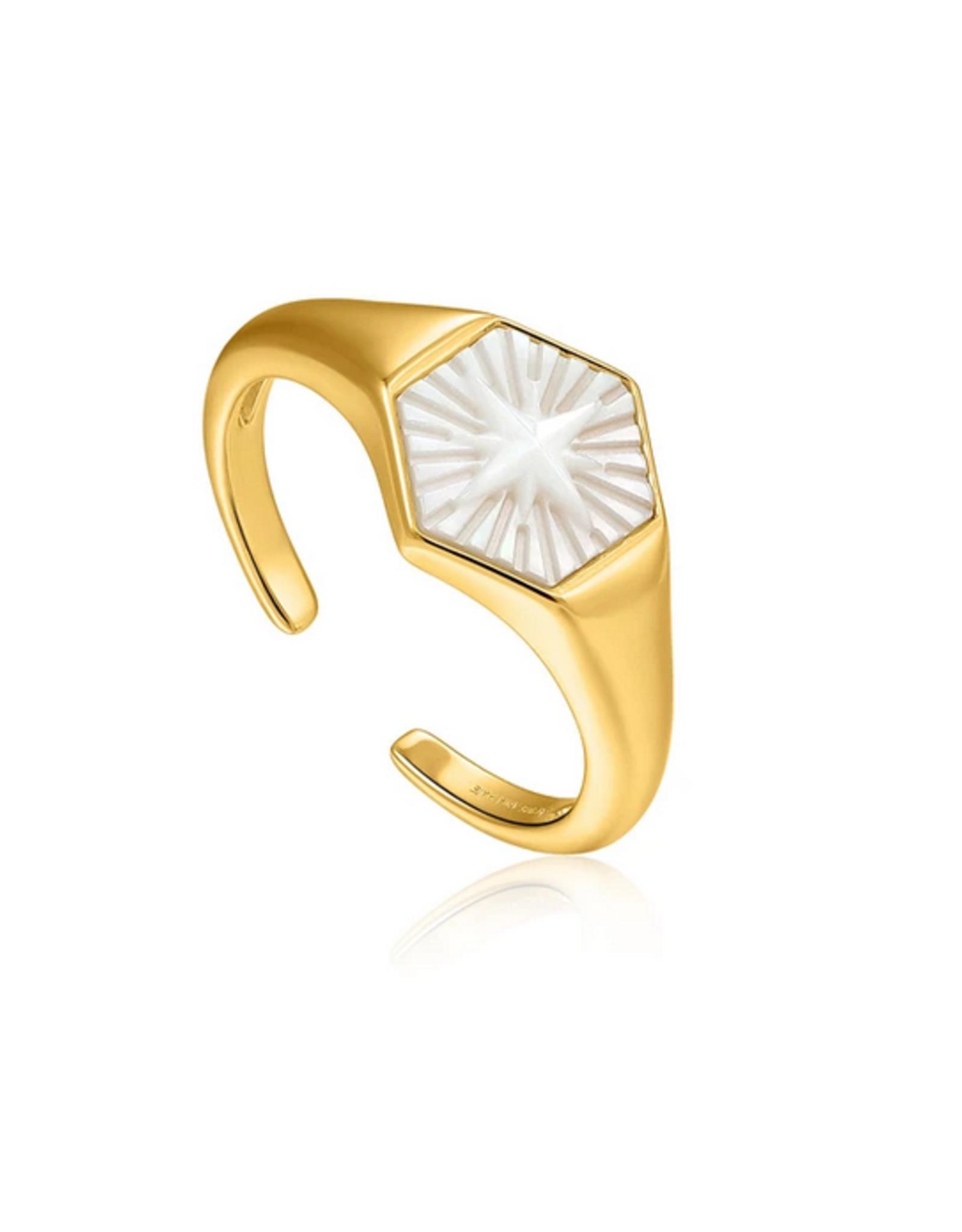Ania Haie Ania Haie - Compass emblem - gold adjustable