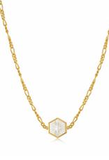 Ania Haie Ania Haie - Compass eblem - gold figaro chain necklace