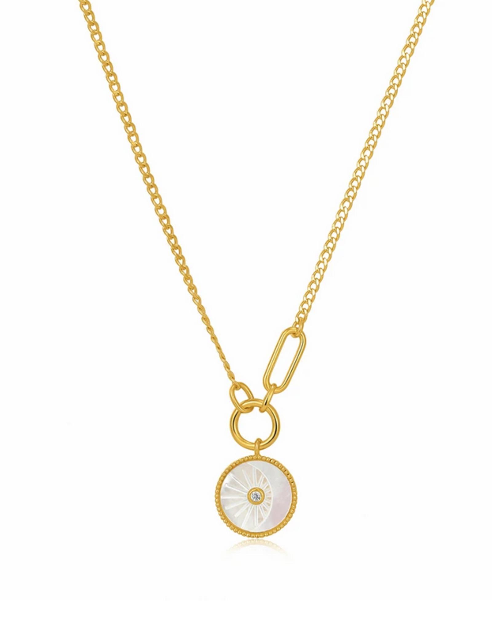 Ania Haie Ania Haie - Eclipse emblem - gold necklace