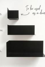 Groovy Magnets Groovy Magnets - Stalen Magnetische wandplankje medium zwart