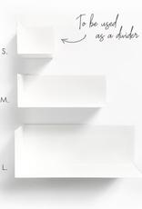 Groovy Magnets Groovy Magnets - Stalen Magnetische wandplankje Large wit