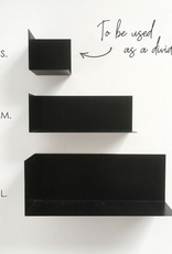 Groovy Magnets Groovy Magnets - Stalen Magnetische wandplankje Large zwart