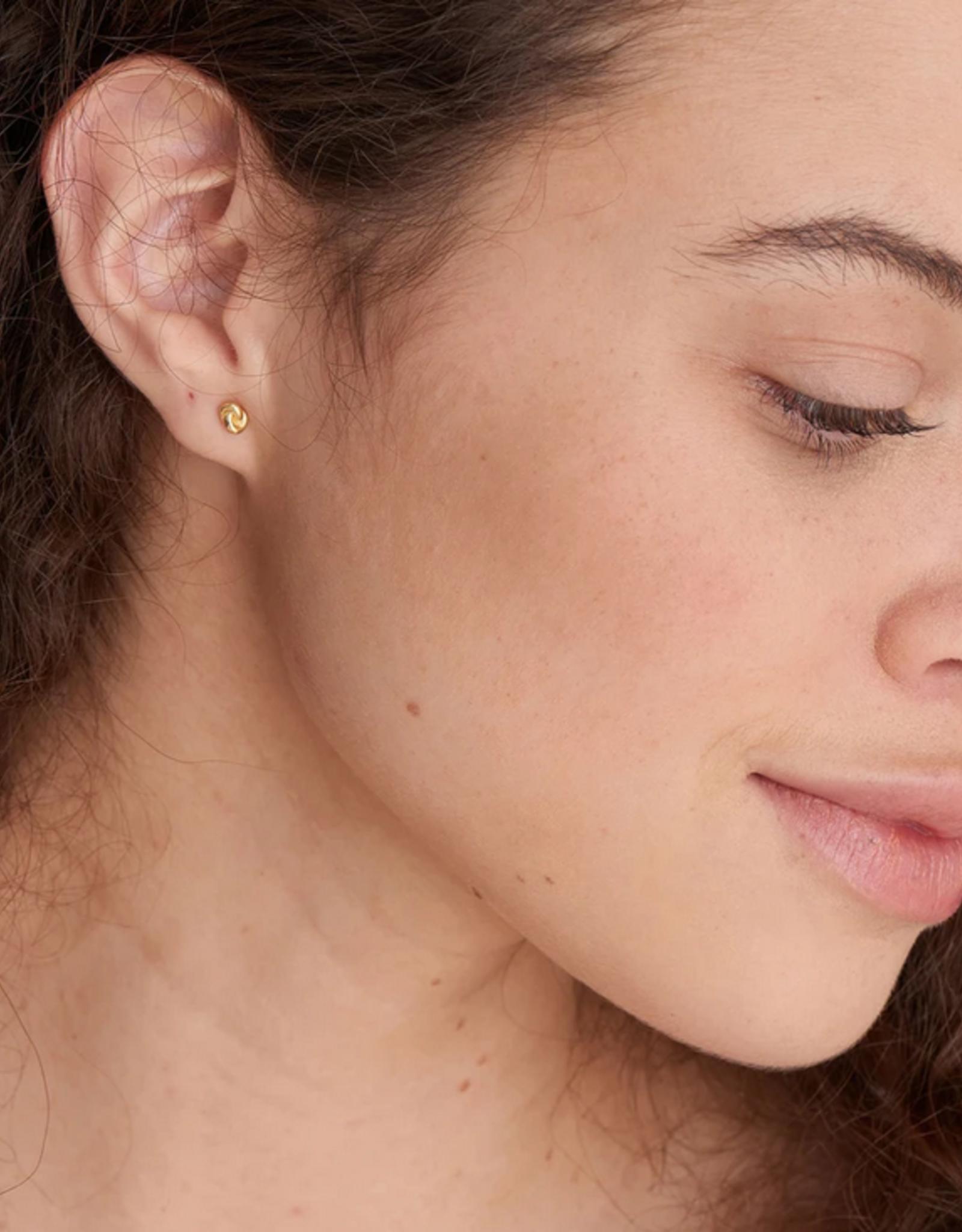 Ania Haie Ania Haie - Gold knit Stud earrings