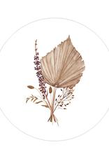 Days of bloom - Kaartenhouder eiken met vaasje XS - Palmblad