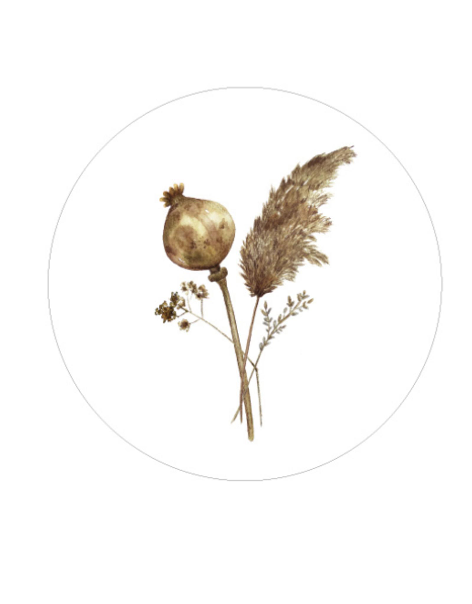 Days of bloom - Kaartenhouder eiken met vaasje XL - Dried flowers
