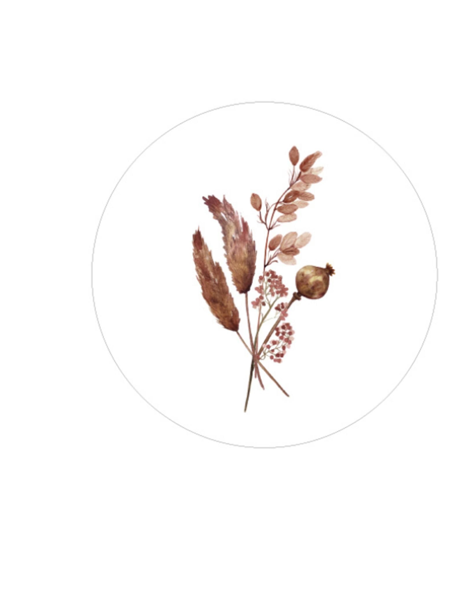 Days of bloom - kaartenhouder eiken met vaasje XL - Ambiance
