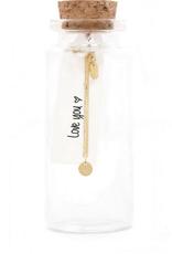 Miab Miab - ketting goud - scratched tiny round - 16