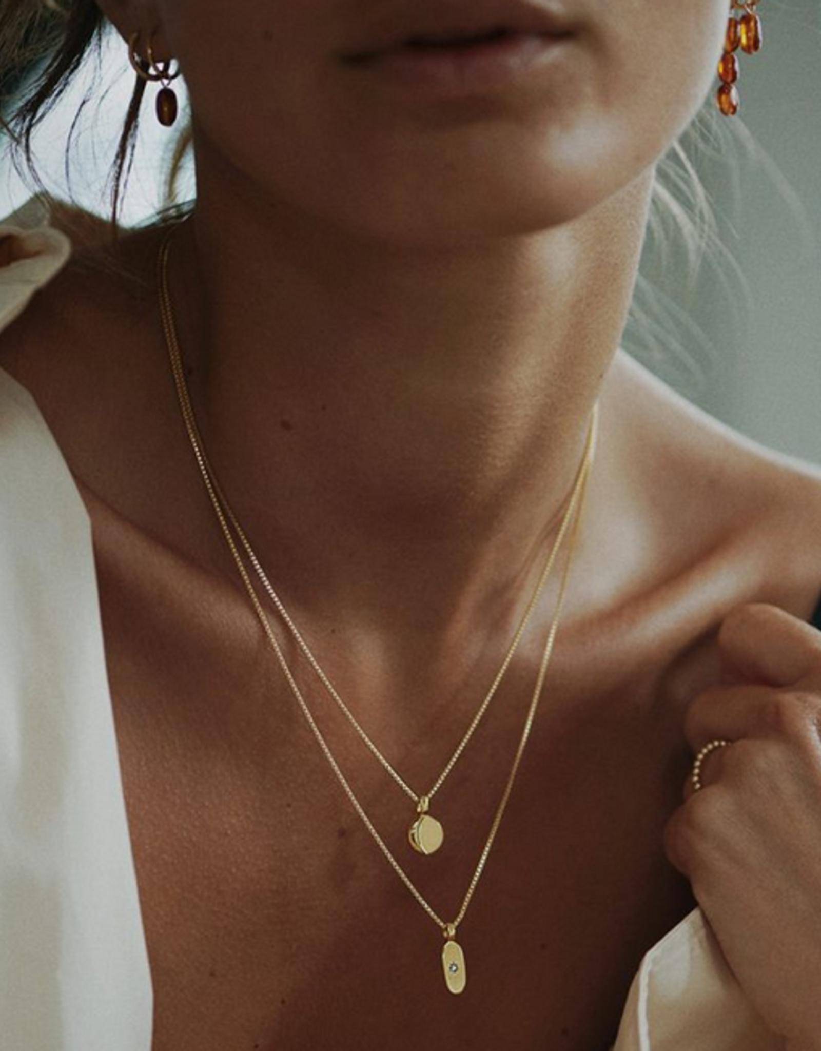 Miab Miab - Ketting goud - Sparkly oval white