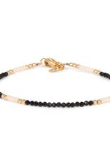 Miab Miab - Armband goud - Black & white - M - 17cm