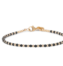 Miab Miab - Armband goud - Black one by one - M - 17cm
