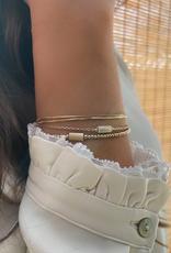 Miab Miab - Armband goud - Tube nude - M - 17cm