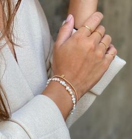 Miab Miab - Armband goud - Subtle scratch - M - 17cm