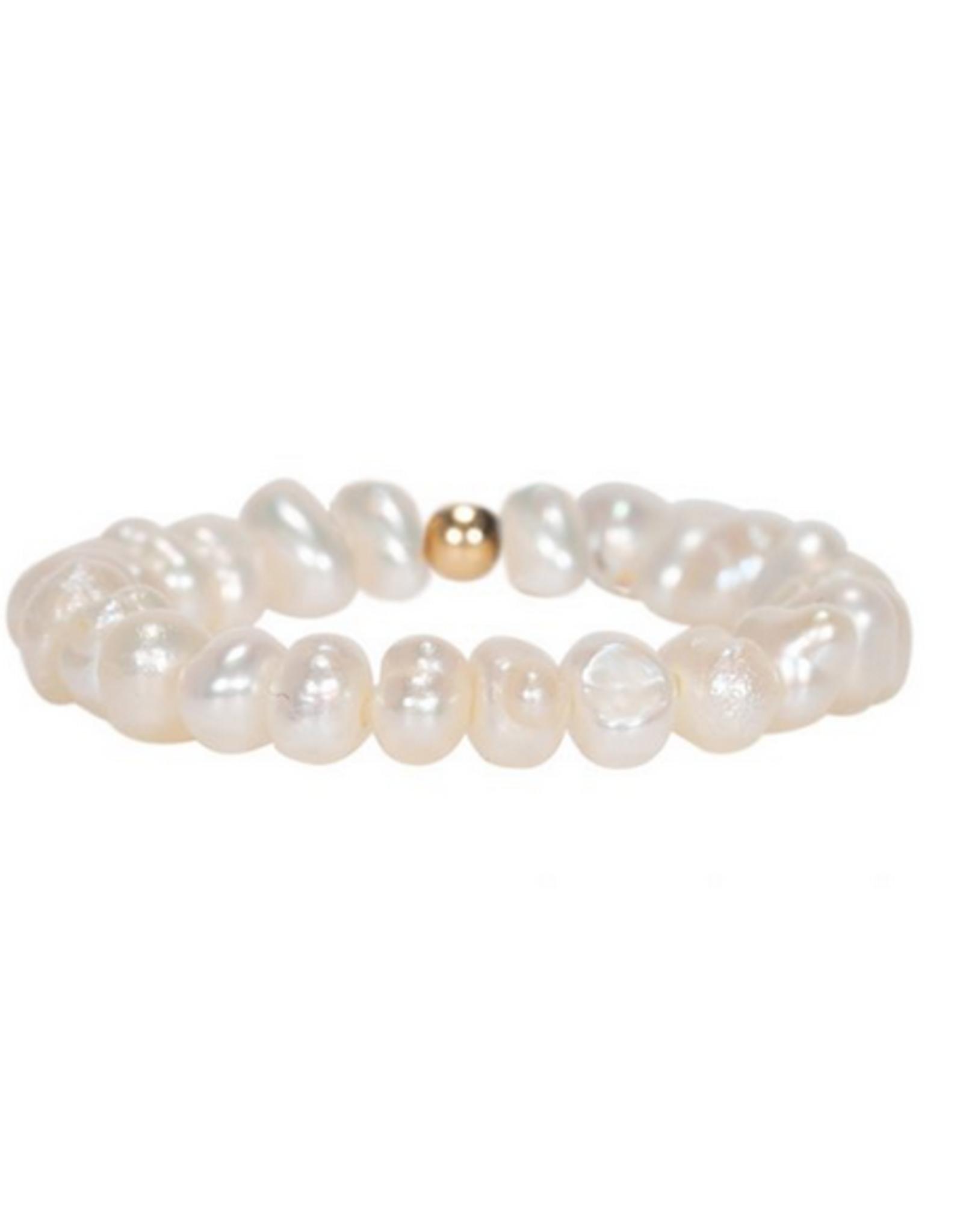 Miab Miab - Ring goud - all pearl - M