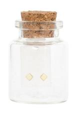 Miab Miab - Oorbellen goud - mini square