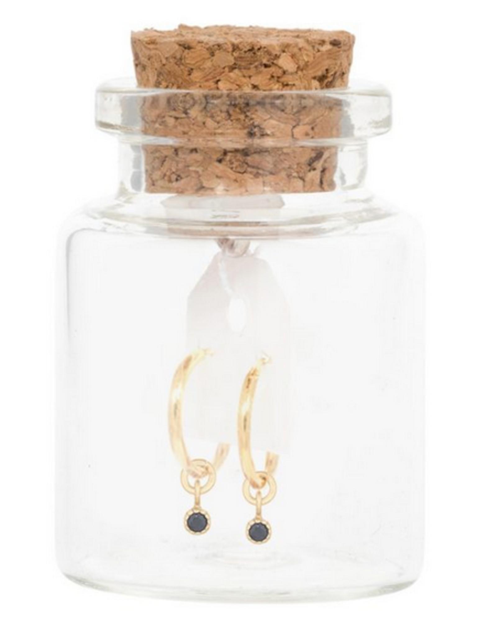Miab Miab - Oorbellen goud - rounds charmy black
