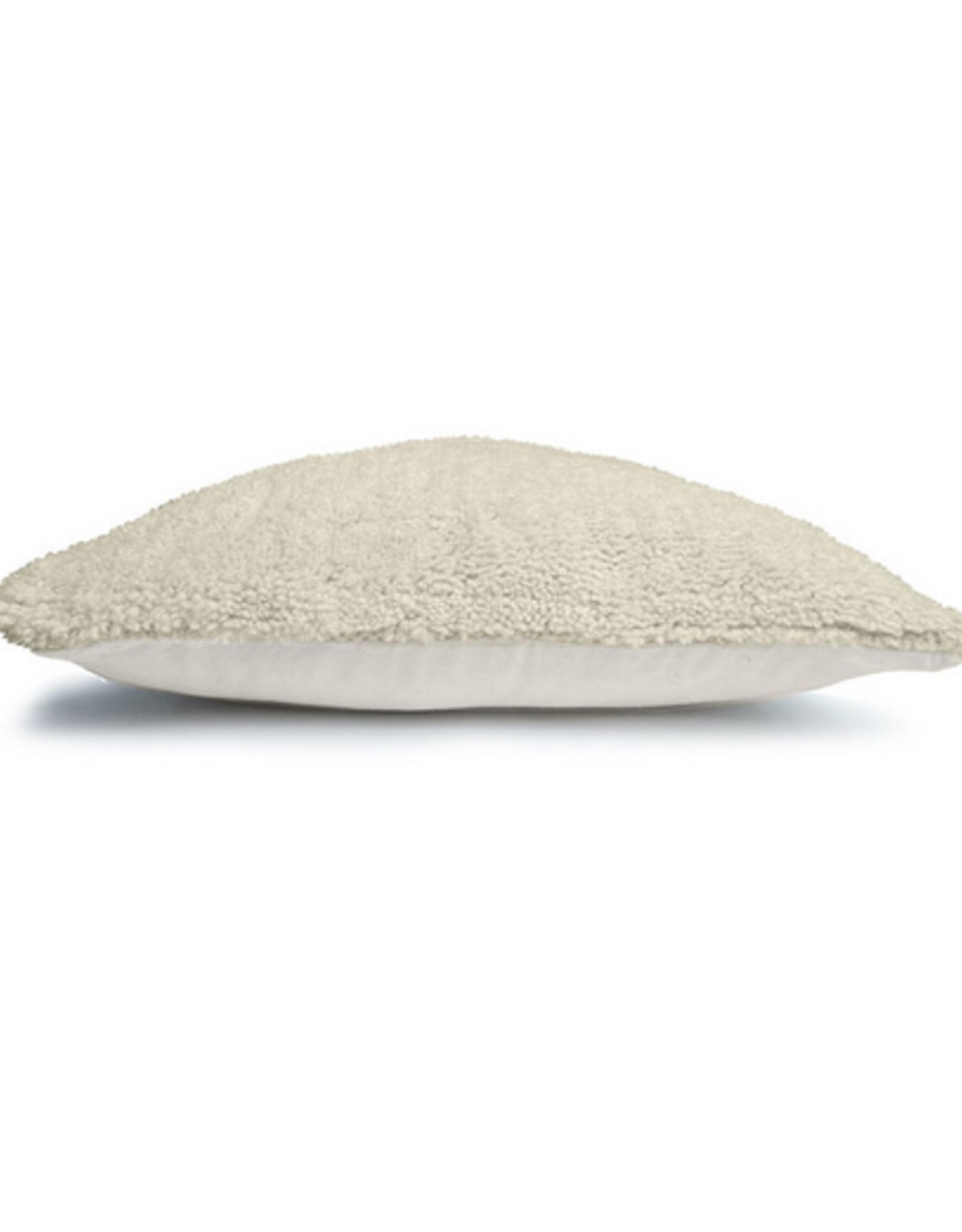 Malagoon Malagoon - Turfed solid cushion - ivory white