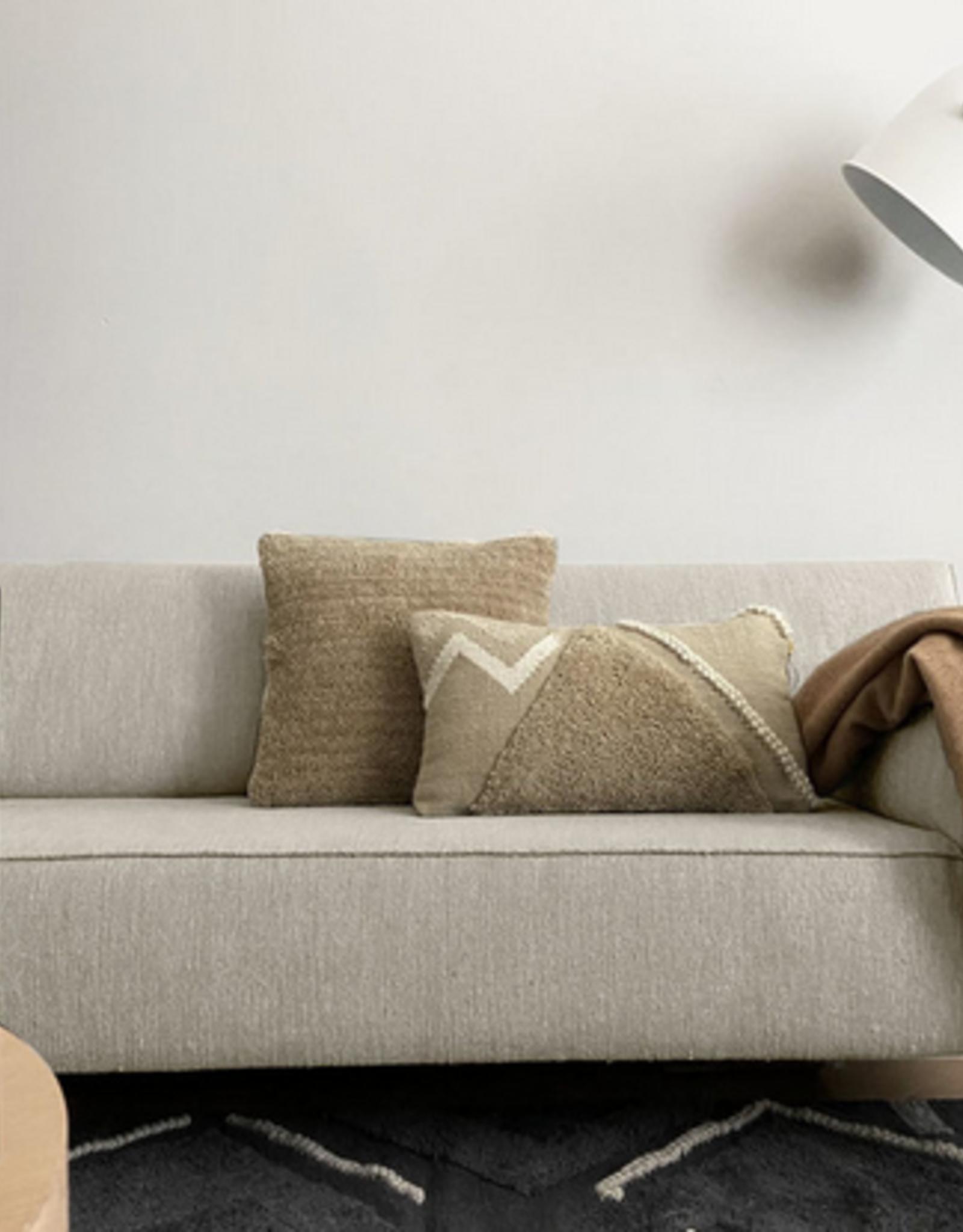 Malagoon Malagoon - Turfed solid cushion - cocoon beige