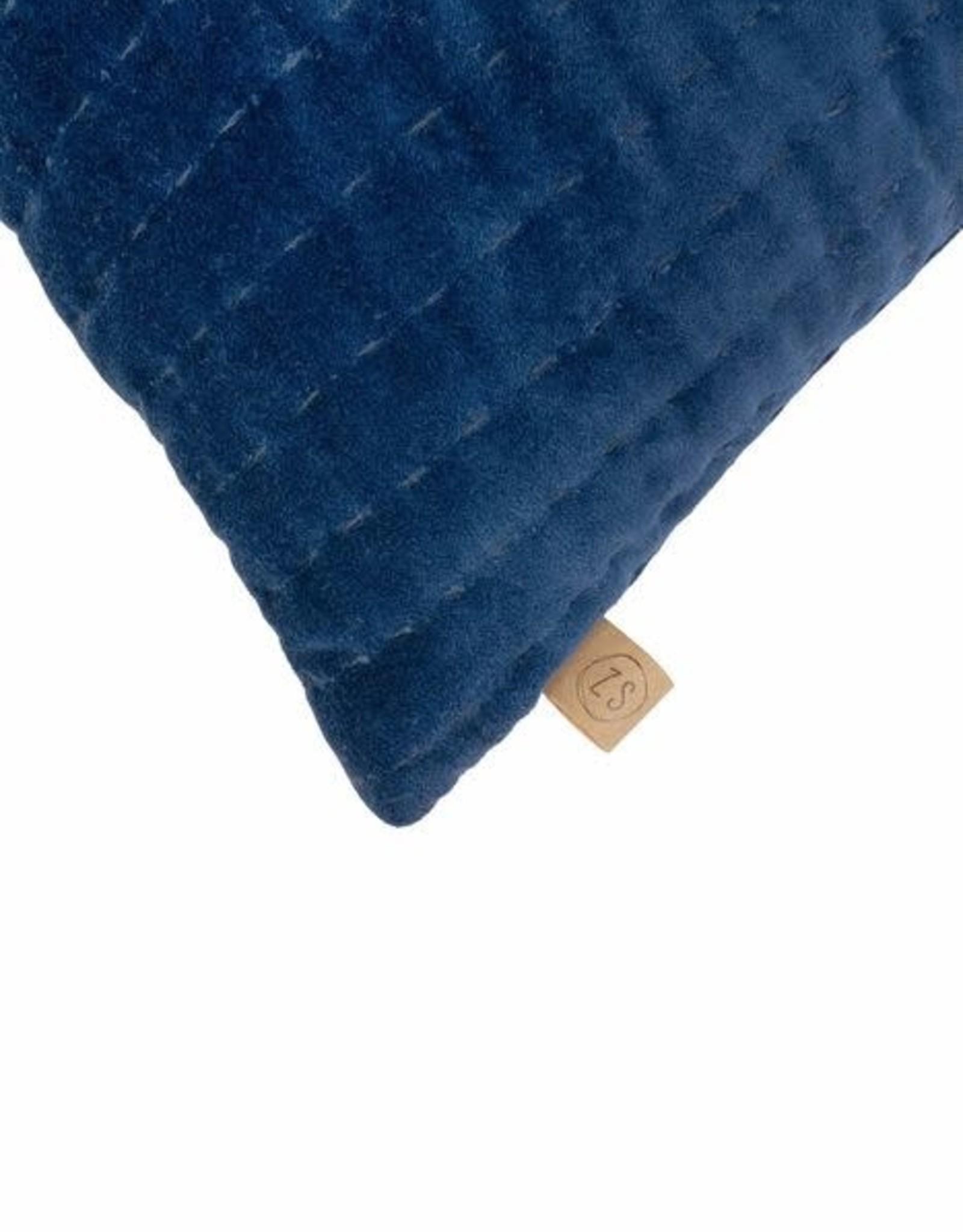 Zusss Zusss - Kussen fluwelen kussen 60x40cm blauw