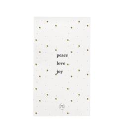 Zusss Zusss - servetten - peace love joy - wit