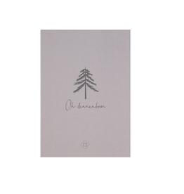Zusss Zusss - Kaart - oh dennenboom - taupe