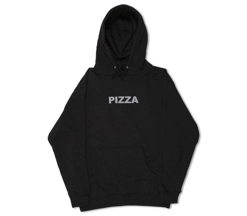 Pizza Logo Hoodie Black
