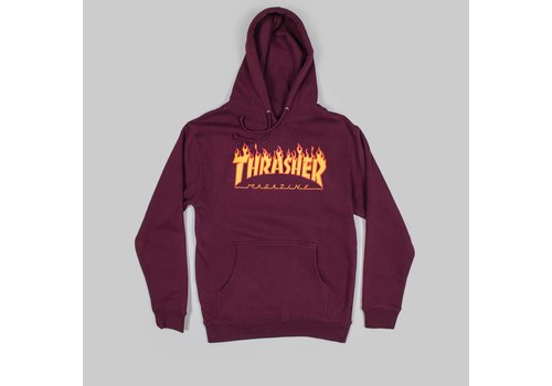 Thrasher Thrasher Flame Logo Hood Maroon