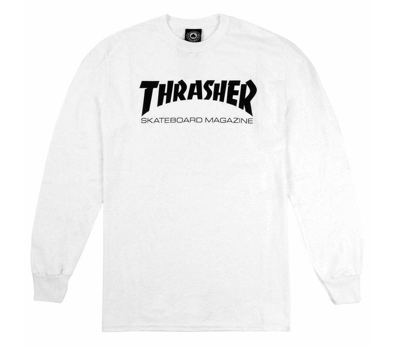 Thrasher Skate Mag Ls White