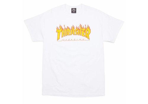 Thrasher Thrasher Flame Logo Tee White