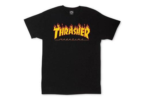 Thrasher Thrasher Flame Logo Tee Black