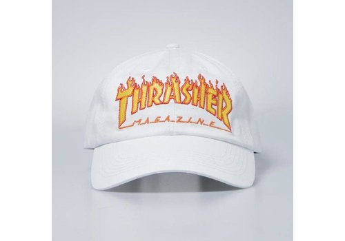 Thrasher Thrasher Flame Old Timer Hat White