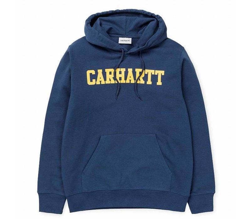 Carhartt Hooded College Sweat Blue/Yellow