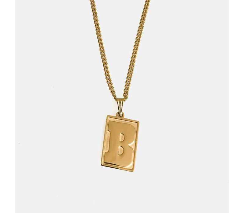 Baker Capital B Gold Chain