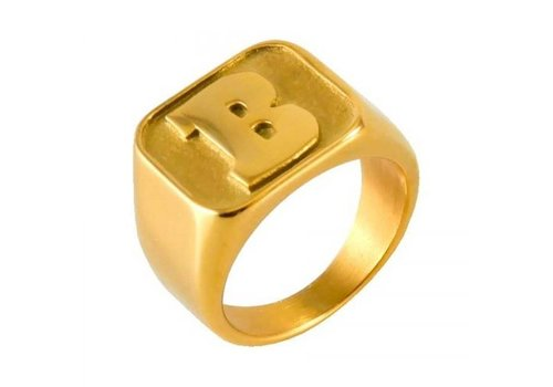 Baker Baker Capital B Gold Ring
