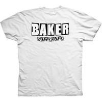 Baker Brand Logo Dubs White Tee