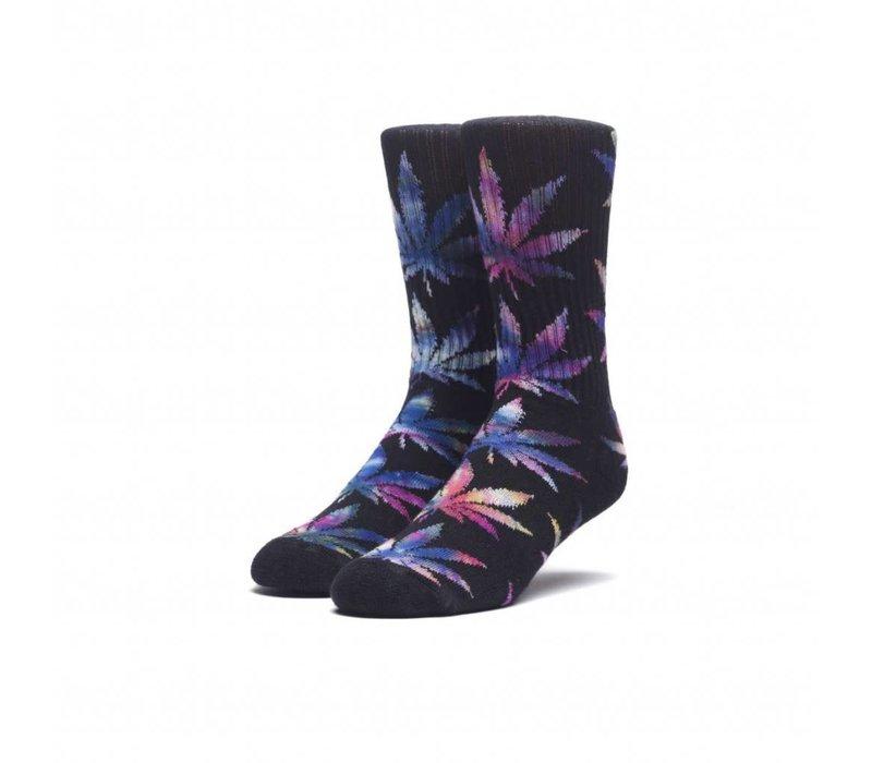 Huf TieDye Leaves Plantlife Socks Black