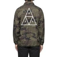 Huf Triple Triangle Coaches Jacket Camo