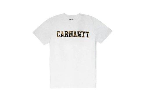 Carhartt WIP Carhartt College T-Shirt White/ Camo Tiger