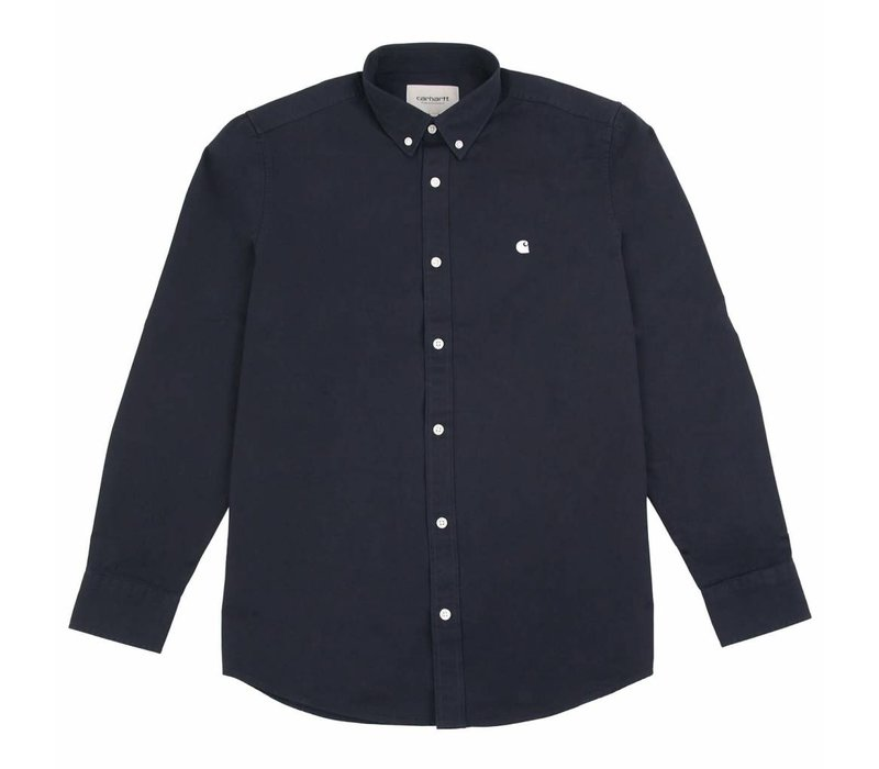 Carhartt LS Madison Shirt Dark Navy/Wax