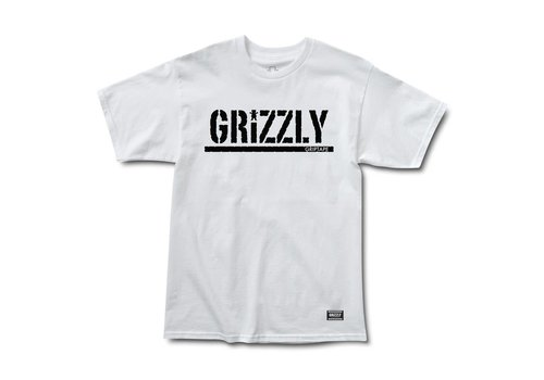 Grizzly Grizzly OG Stamp Tee White