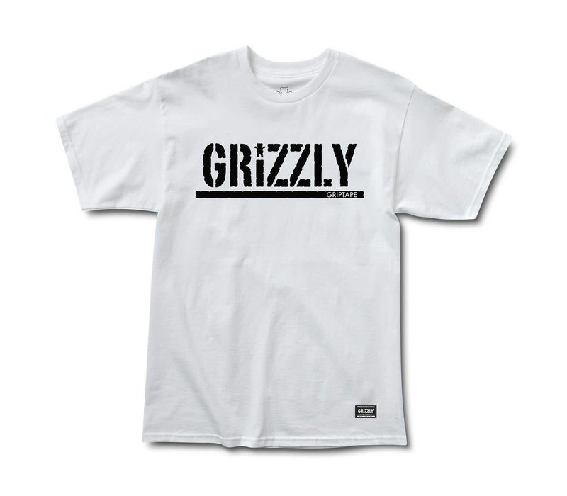 Grizzly OG Stamp Tee White