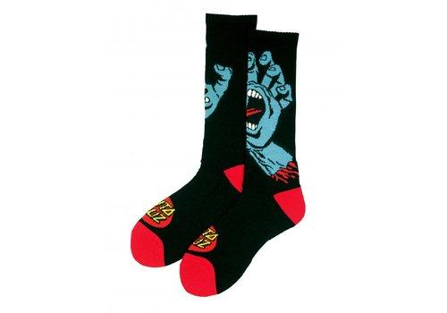 Santa Cruz Santa Cruz Screaming Hand Sock Black