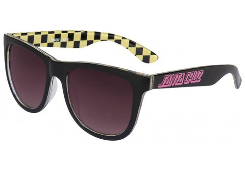 Santa Cruz Santa Cruz Classic Check Sunglasses Black/Yellow