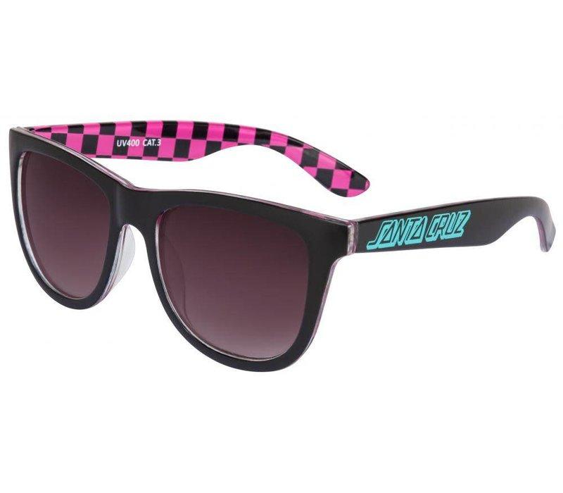 Santa Cruz Classic Check Sunglasses Black/Pink