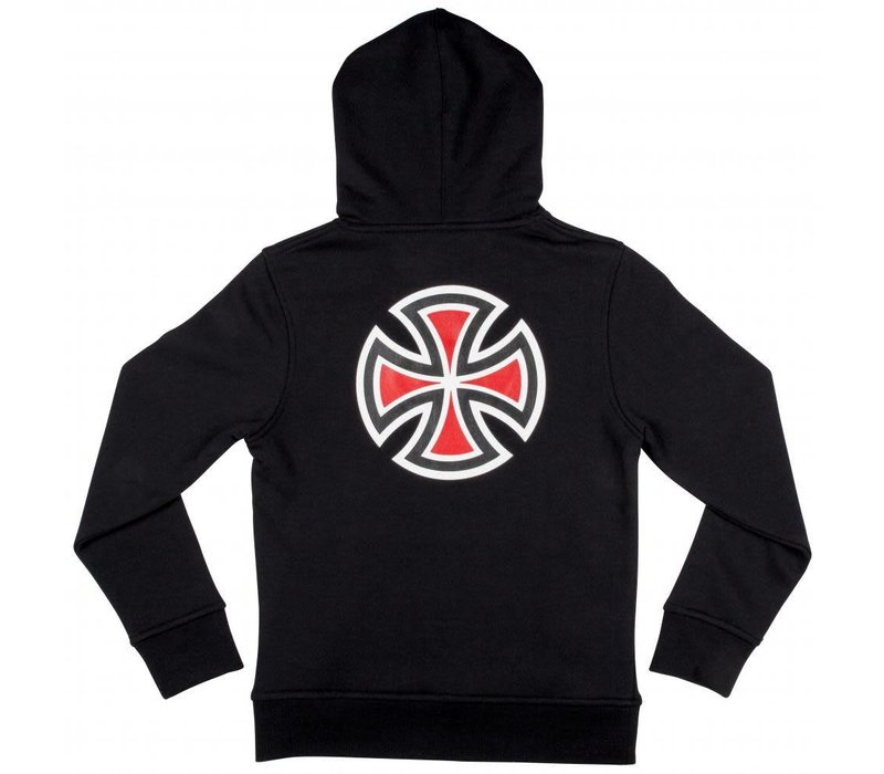 Independent Bar Cross Youth Hood Black