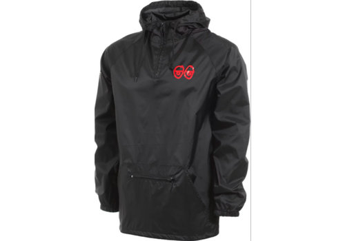 Krooked Krooked Eyes Packable Anorak Black/Red
