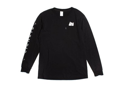Ripndip Ripndip Lord Nermal Pocket  Black Longsleeve