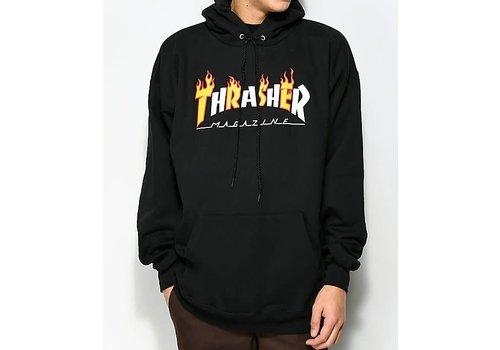 Thrasher Thrasher Sweat Hood Flame Mag Black
